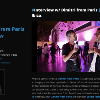 Dimitri from Paris Interview with Brandnite TV
