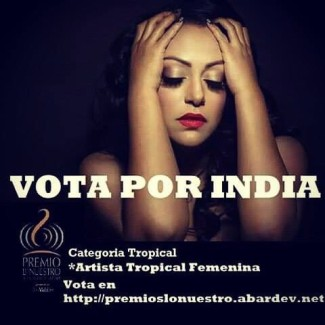 "INDIA – nominated for Lo Nuestro Award for ""Female Artist of the Year"""