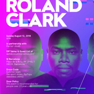 Roland Clark @ W Hotel, Barcelona (Spain) on August 12th, 2018