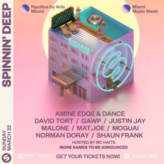 David Tort for Spinnin' Deep @ Nautilus Hotel, Miami South Beach (USA) on March 22nd, 2020 – WMC 2020 event