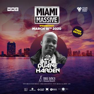Duane Harden @ Nikki Beach, Miami South Beach (USA) on March 18th, 2020