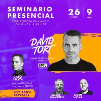 David Tort Masterclass @ Seminario Presencial, Sede Bogotá DNA Music, Bogota (Colombia) on 26th June 2021