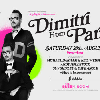 Dimitri From Paris @ The Green Room, Maidstone (UK) on August 28th, 2021