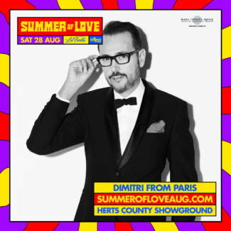 Dimitri From Paris for Summer Festival @ Hertfordshire County Showground, Hertfordshire (UK) on August 28th, 2021